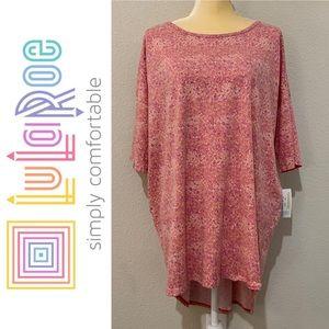 LuLaRoe Irma High Low Oversized Shirt Sz XL
